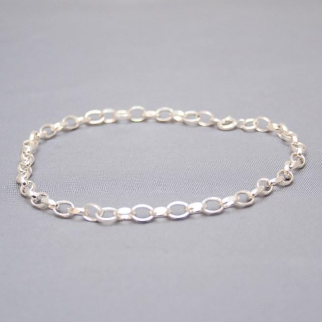 Sterling Silver Plain Ankle Bracelet