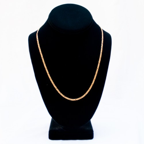 18K Gold Thicker Figaro Gold Chain 20""