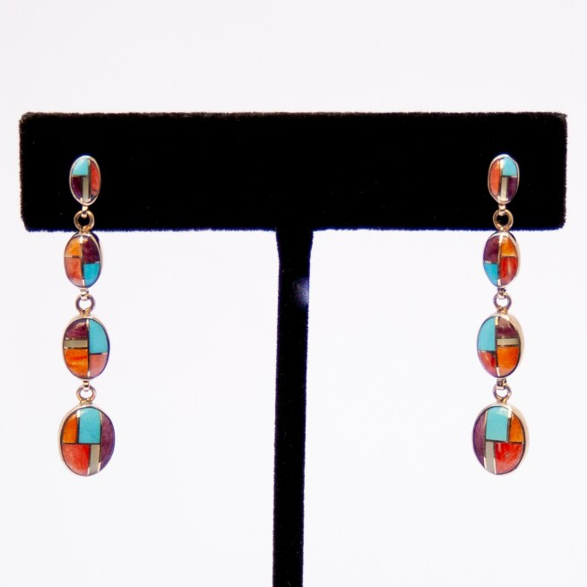 Gold Zuni Multicolour Earrings