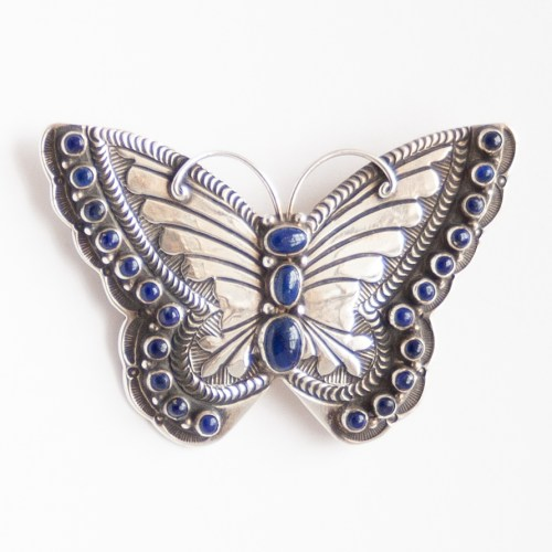 Lee Charley Lapis Butterfly Pin Brooch Pendant