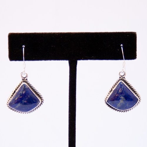 Etta Larry Lapis Lazuli Triangular Drop Earrings