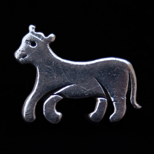 Small Silver Cow Pin Brooch