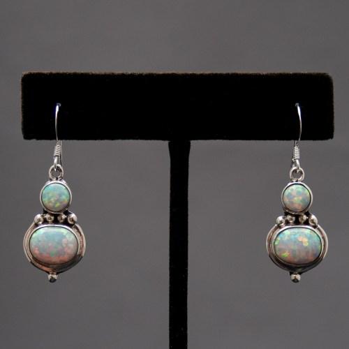 Boucles d'Oreilles Opale Double