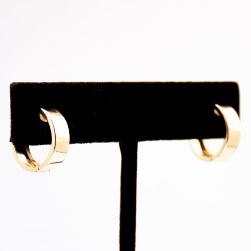 9K Gold Small Hoop Earrings