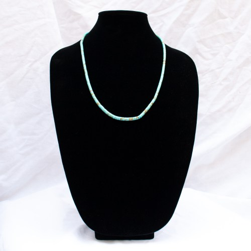 Kevin Garcia Long Kingman Turquoise Beaded Necklace