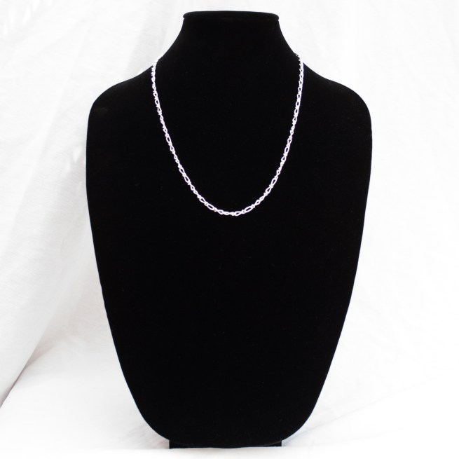 """Sterling Silver Infinity Chain 24"""""""