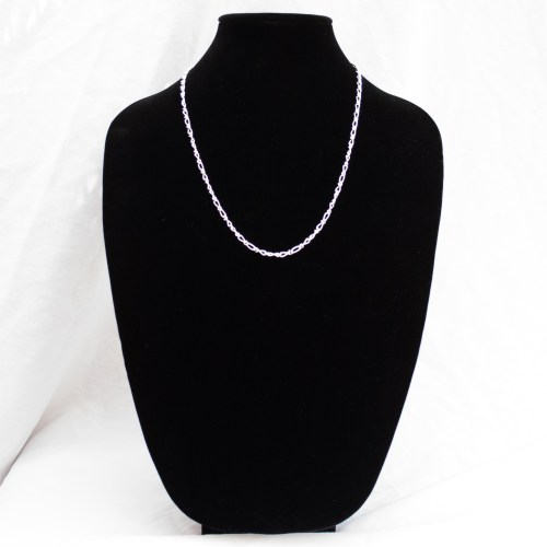 Sterling Silver Infinity Chain 24""