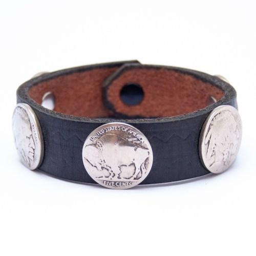 Bracelet Amérindien Homme Cuir Noir