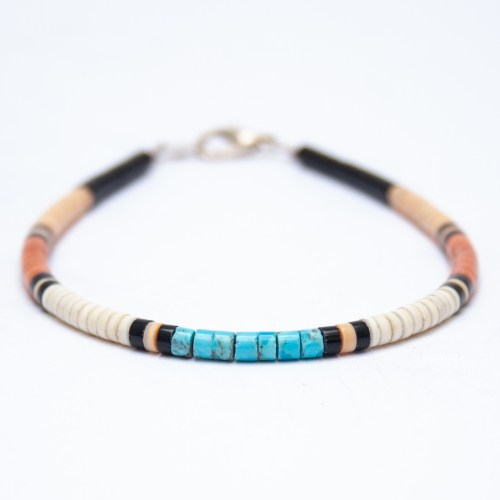 Multicolour Native American Beaded Bracelet