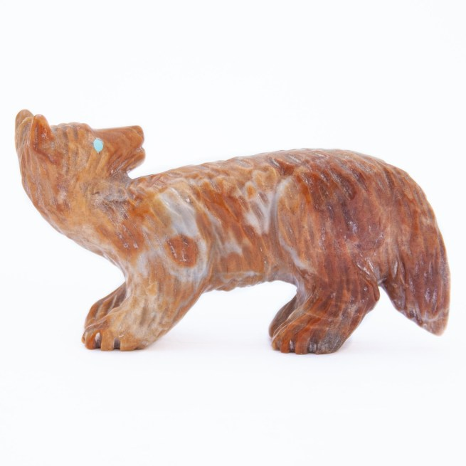 Andres Quandelacy Playful Wolf Zuni Carving