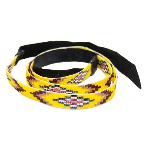 Yellow Beaded Headband