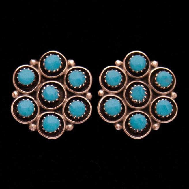 Florence Booqua Turquoise Stud Earrings
