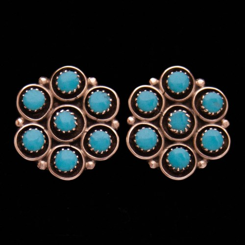 Florence Booqua Turquoise Stud Earrings
