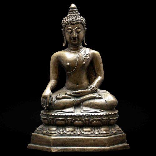 Bhumisparsa Mudra Bronze Buddha Statue