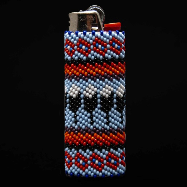 Large Beaded Feathers Lighter Case