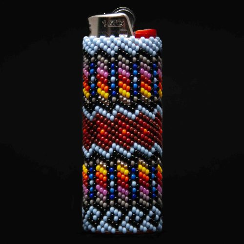 Large Multicolour Zuni Beaded Lighter