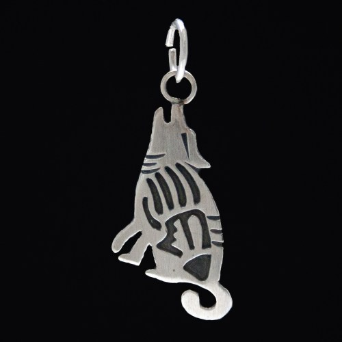 Small Silver Navajo Coyote Necklace