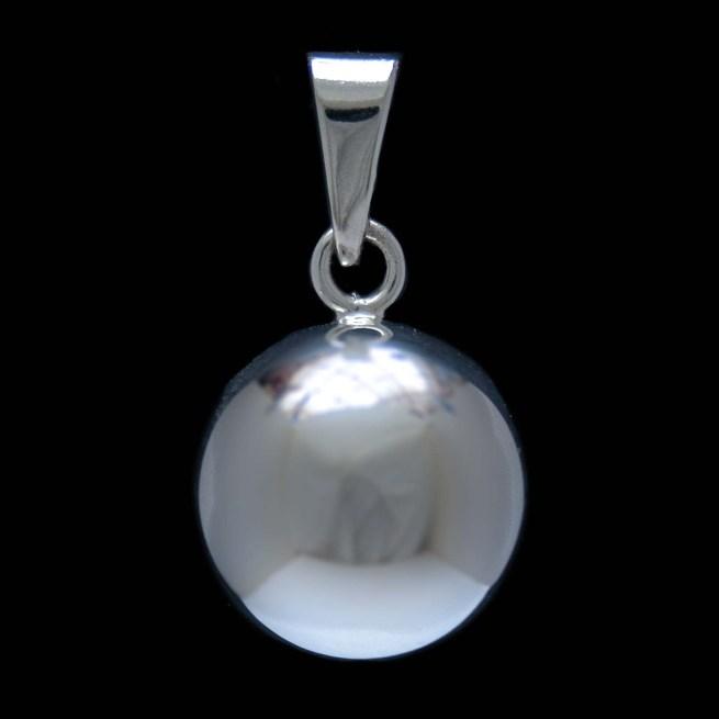 Small Silver Pregnancy Chime Pendant