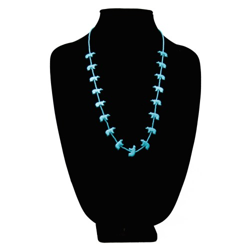 Zuni Turquoise Bear Fetish Necklace