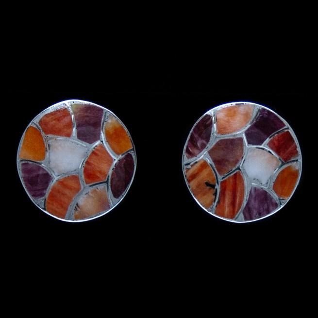 Boucles d'Oreilles Clips Oranges Rondes