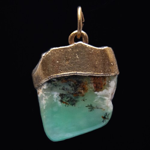 Gold Plated Chrysoprase Pendant