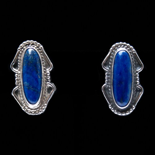 Lapis Lazuli Clip-On Earrings