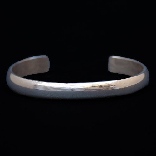 Native American Plain Silver Bracelet