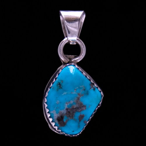 Small Turquoise Silver Pendant