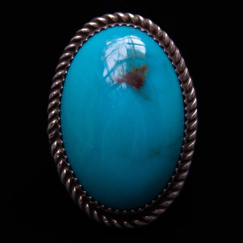 Thick Curvy Turquoise Ring