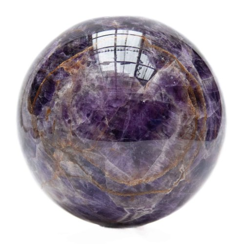 Large Amethyst Iron Crystal Ball
