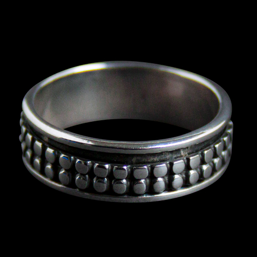 Silver Dotted Navajo Ring