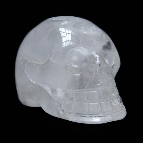 Small Clear Quartz Skull Carving