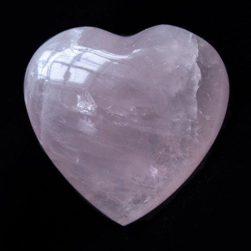 Small Rose Quartz Crystal Heart