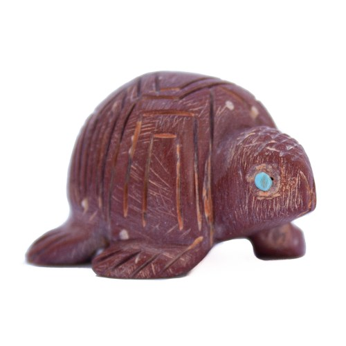 Brown Turtle Carving