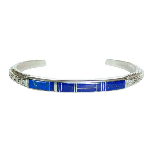 Lapis Greek Key Zuni Bracelet