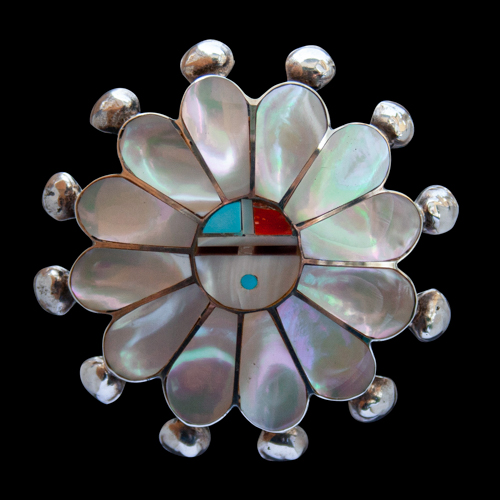 Mother-of-Pearl Pin Brooch