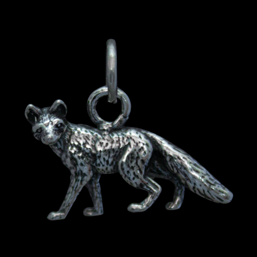 Small Silver Wolf Pendant