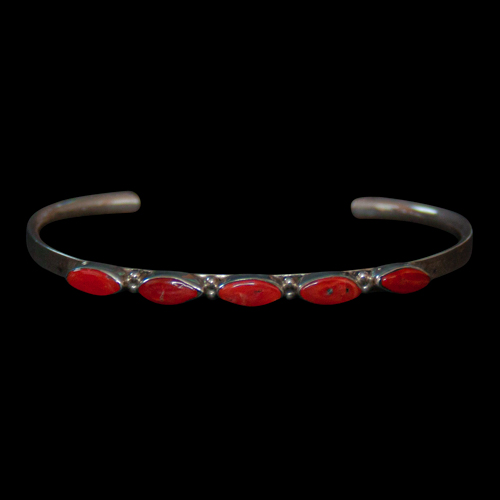 Small Thin Coral Bracelet