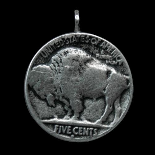 Buffalo Nickel Coin Pendant