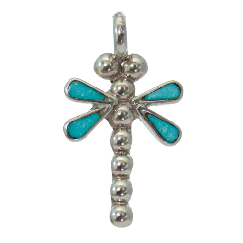 Small Turquoise Dragonfly Pendant