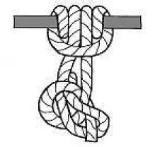 Prusik end of line knot with Bowline for safety