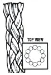 Twelve-Strand braided rope construction
