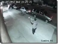 Surveillance video showing shooter
