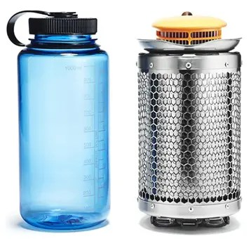BioLite campstove compared to water bottle
