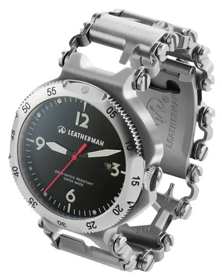 Leatherman Tread bracelet with watch