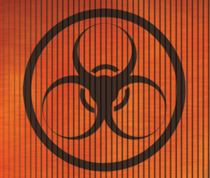 Biological weapon danger logo sign