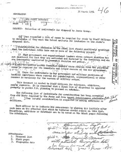 A Study of Assassination (CIA) - Appendix