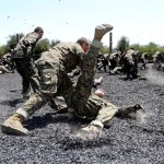 How to break your fall in combat situations to minimize injury and quickly maintain fighting advantage.