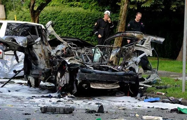 Car exploded by bomb