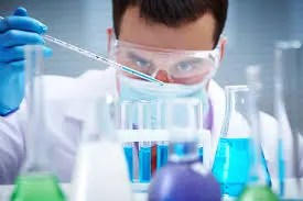 Mixing chemicals in a lab